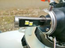 イントルーダークラシック400アミリアスタイル・CREE製 車用LEDヘッドライト H4型 Hi/Loの全体画像
