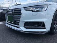 A4 アバント (ワゴン)m+ / キザス Front Lip Spoiler for Audi A4 S-Line(カーボン仕様)の単体画像