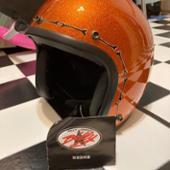 ヒートグループ ジェットヘルメット オレンジフレーク