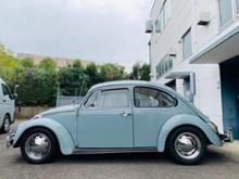 """ビートルFLAT4 VW純正スタイル スチールクロームホイール 4LUG 15"""" X 5.5Jの全体画像"""