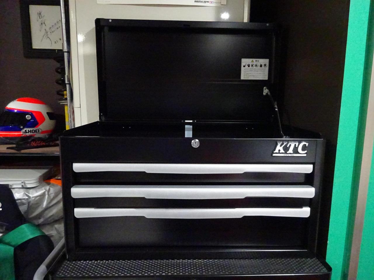KTC / 京都機械工具 トップチェスト(3段3引出し)EKR-1003BK