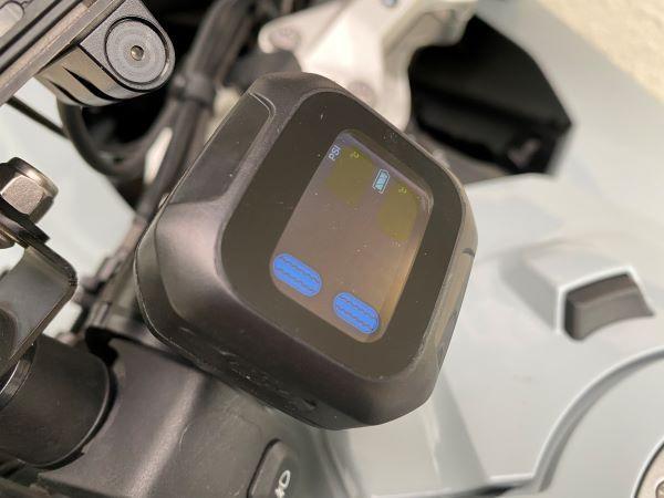 OBEST タイヤ空気圧監視システム 2外部センサー18×13mm ワイヤレスtpms リアルタイム監視 2輪オートバイ用防水