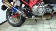 モンキー125r,sギア ワイバンクラシック フルチタンドラッグブルーの全体画像