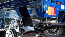スクラムトラックSPIEGEL LS-304 (レベルサウンド304) 軽トラック専用車検対応マフラーの全体画像