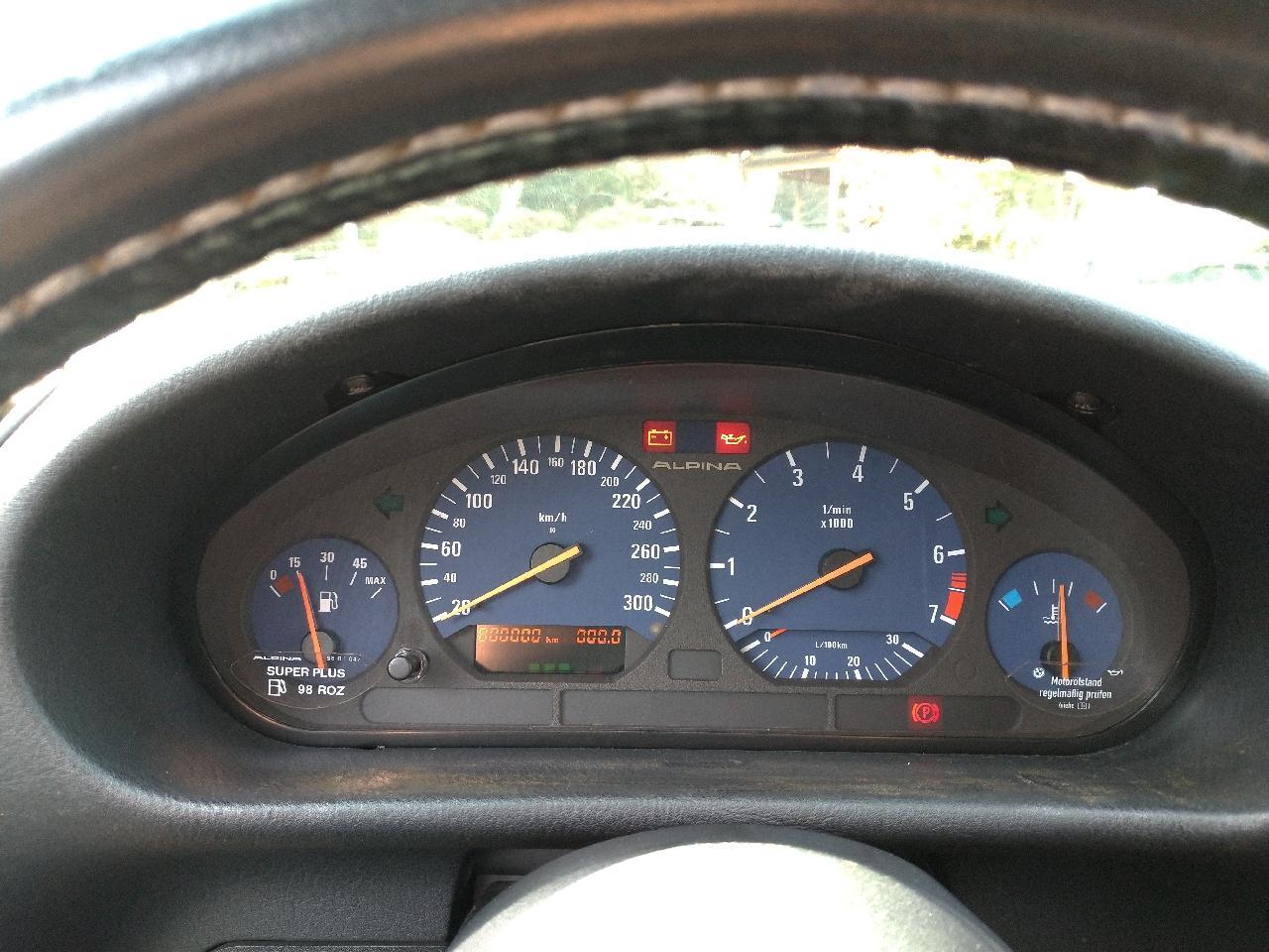 BMWアルピナ(純正) E36 3シリーズ用 300kmスケールスピードメーター