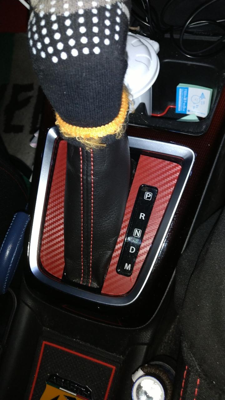 不明 AP シフトゲートステッカー カーボン調 スズキ スイフト/スイフトスポーツ