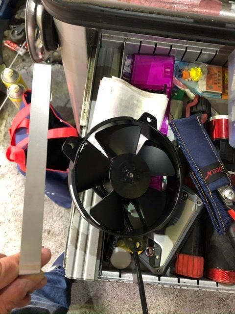44G サイドオイルクーラー オプション電動ファン