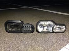 F650GSAtubeix LEDヘッドライトユニットの全体画像