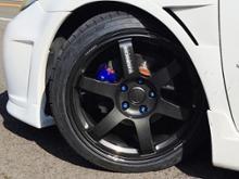 アテンザスポーツワゴンRAYS VOLK RACING TE37 SAGAの単体画像