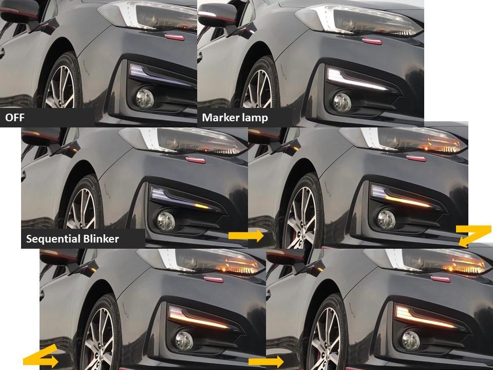 不明 LEDデイライト シーケンシャルウインカー機能搭載 LEDランプ