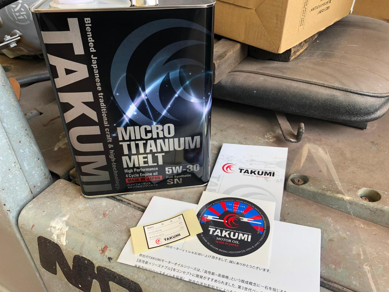 TAKUMIモーターオイル/AKTジャパン MICRO TITANIUM MELT 5W-30