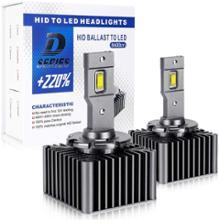 V60OPPLIGHT D3S LED ヘッドライトの全体画像