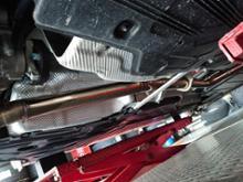 Cクラス ステーションワゴンKWD溶接工房さん ワンオフ中間ストレートマフラー(純正加工)の全体画像