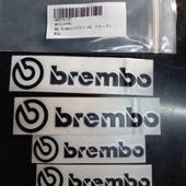 ノーブランド brembo 耐熱ステッカー (ブラック)