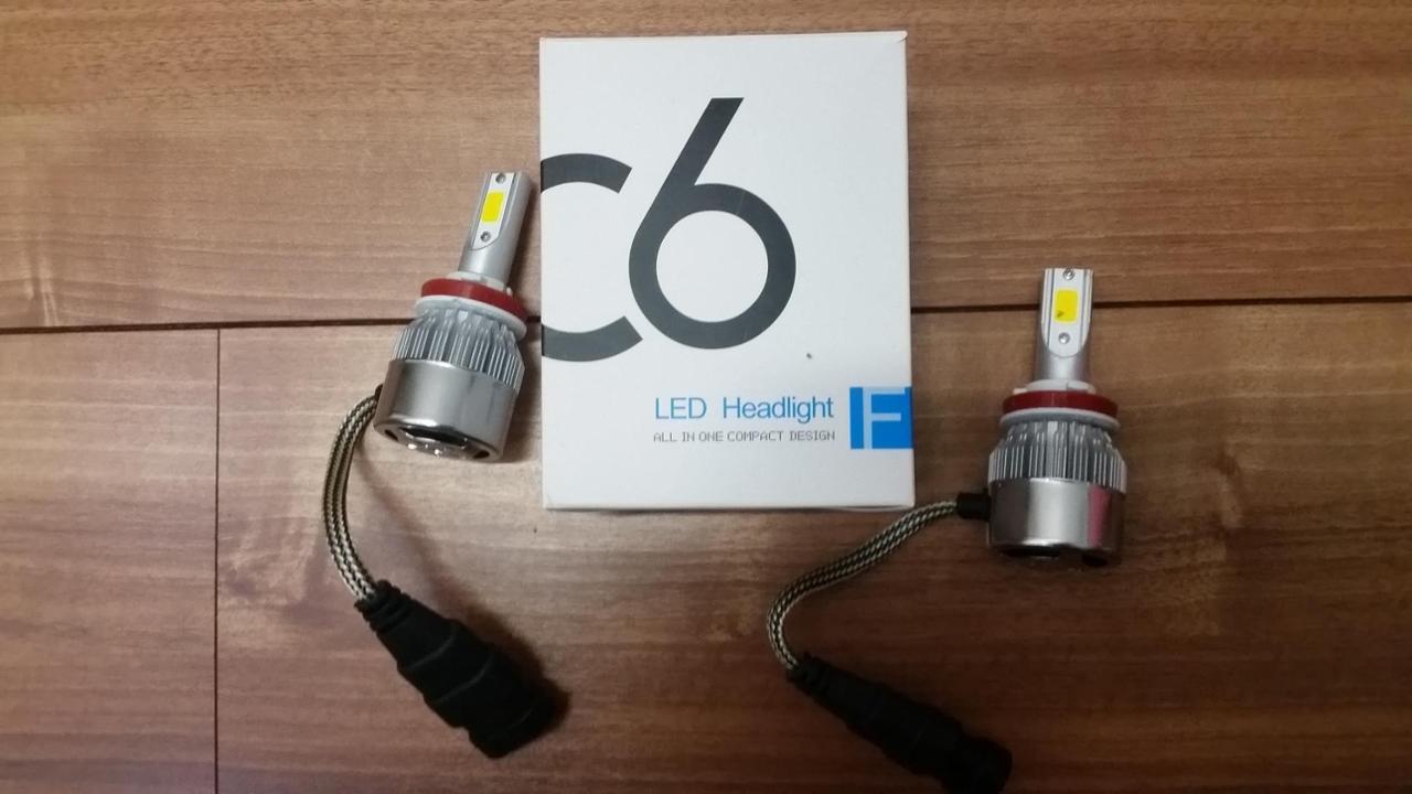 ノーブランド LEDフォグランプ 7600lm H8/H9/H11/H16 スーパーイエロー 黄色 3000k COB DC9-32V