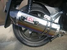 PCX ハイブリッドヨシムラ 機械曲 R-77S サイクロンカーボンエンド(STBC)の単体画像