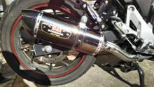 V-Strom 250ヨシムラ ヨシムラ スリップオンマフラー R-77S サイクロンの全体画像