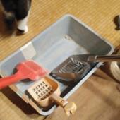 特注品 猫又猫屋敷オリジナルアルミ製トイレスコップ