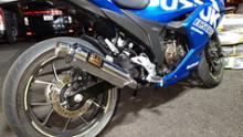 ジクサーSF250ヨシムラ 機械曲 GP-MAGNUM105 サイクロン EXPORT SPECの全体画像