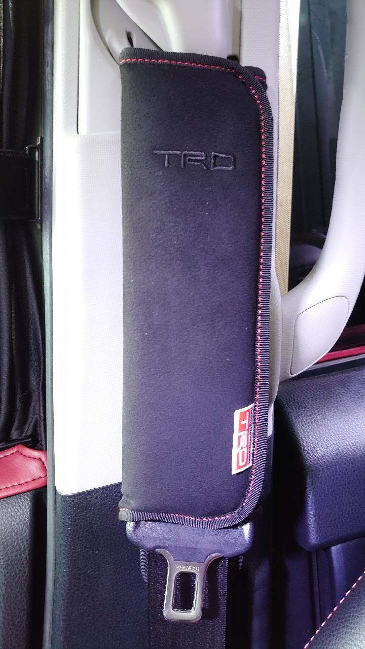 TRD  ショルダーパットセット レッドステッチ
