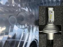 パジェロミニX3 X3-H4-2  LEDヘッドライト H 4 Philips ZESチップ 50Wの全体画像