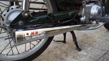 スーパーカブ90DXミニモト・ホットラップ カブSPクラシックマフラー MINIMOTOエンブレムありの単体画像