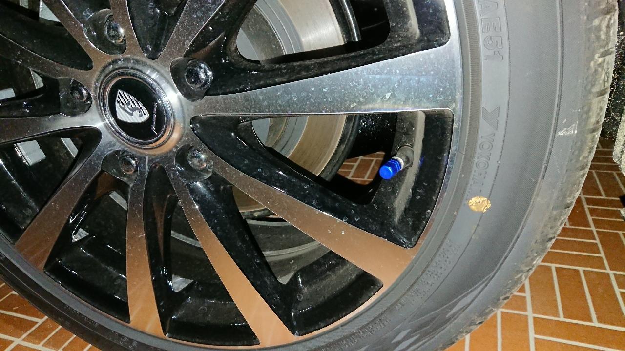 ASTRO PRODUCTS アルミタイヤバルブキャップ  4個セット ブルー