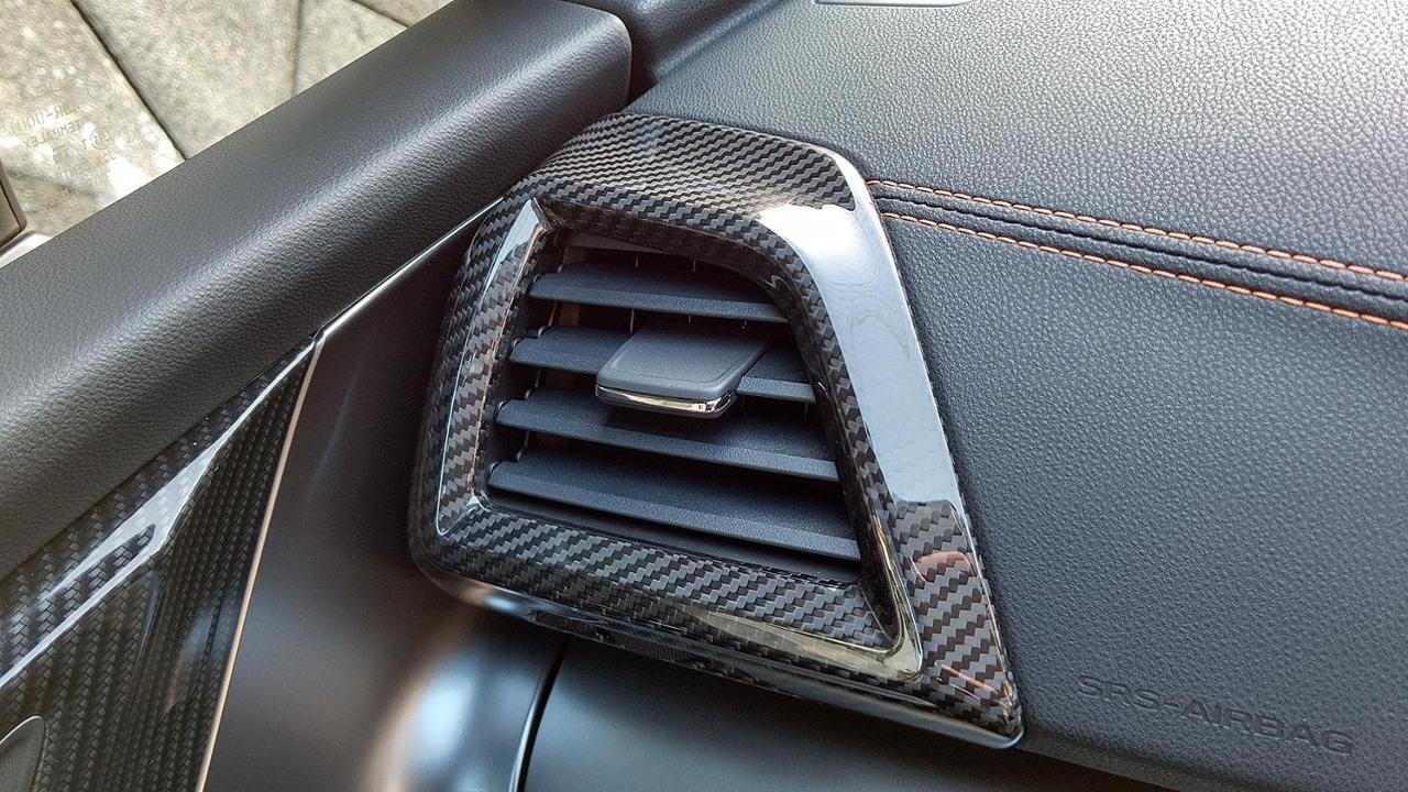 AXIS-PARTS GT-DRYカーボン エアコンカバー2点セット