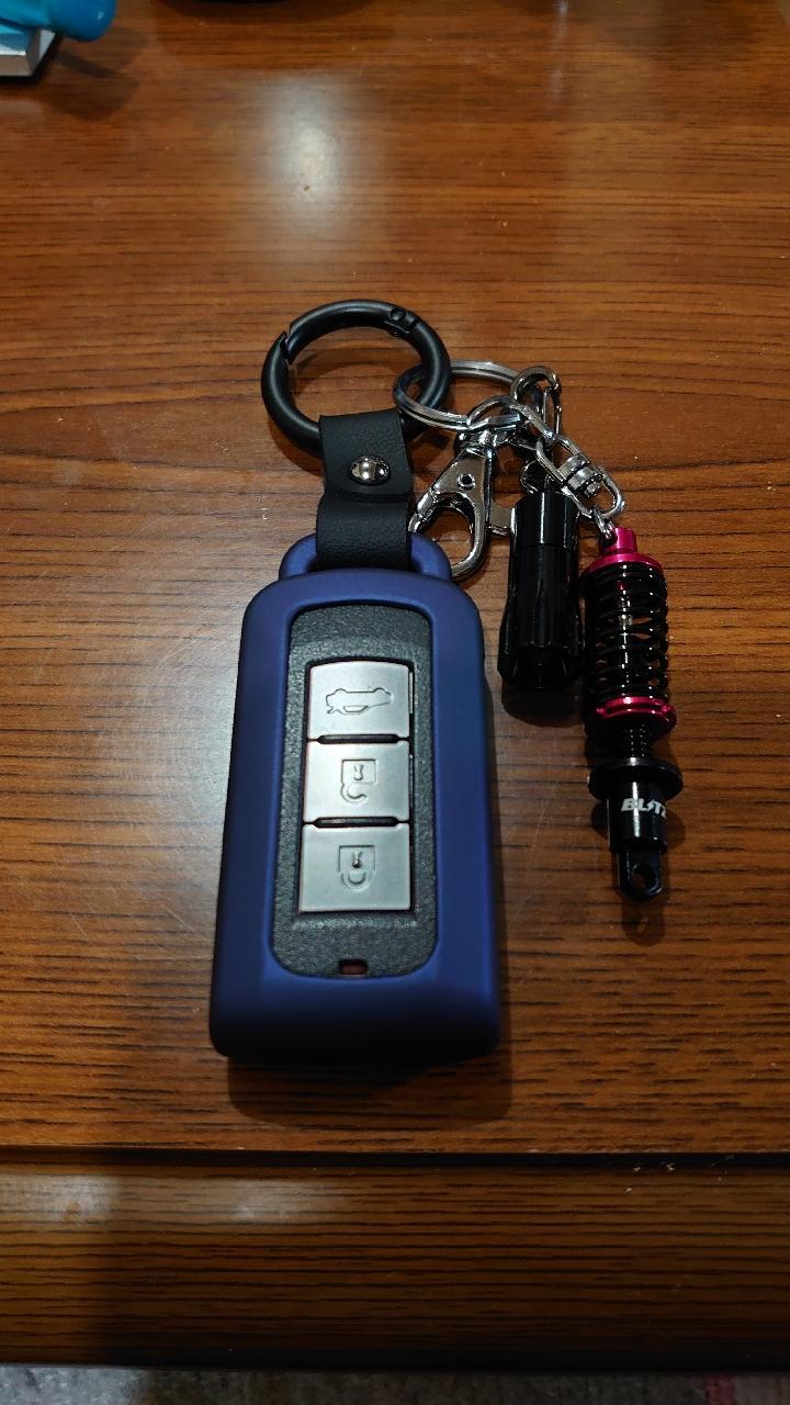 非公認 三菱車用メタルカーボン調スマートキーケース