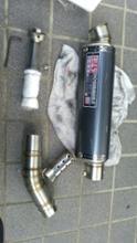 V-Strom 250不明 スリップオン マフラーの全体画像