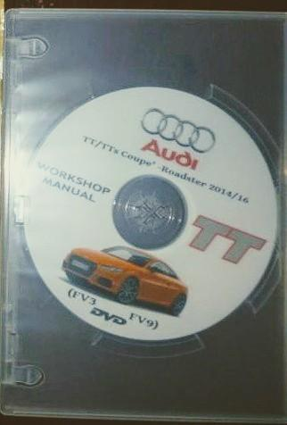 Audi AG(純正) DVD版 Workshop Manual for Audi TT Coupe FV3/FV9