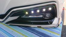 クラウンハイブリッドK'spec SilkBlaze Cronus LEDフロントバンパーダクトカバーの全体画像