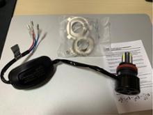 Z1125LUMILIGHT バイク用LEDヘッドライト 3面発光ブルーデイライト付の単体画像