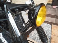 ドラッグスタークラシック400Garage T&F ドラッグスター400 5.75インチベーツライト(ブラック)&ライトステー(タイプB)KITの単体画像