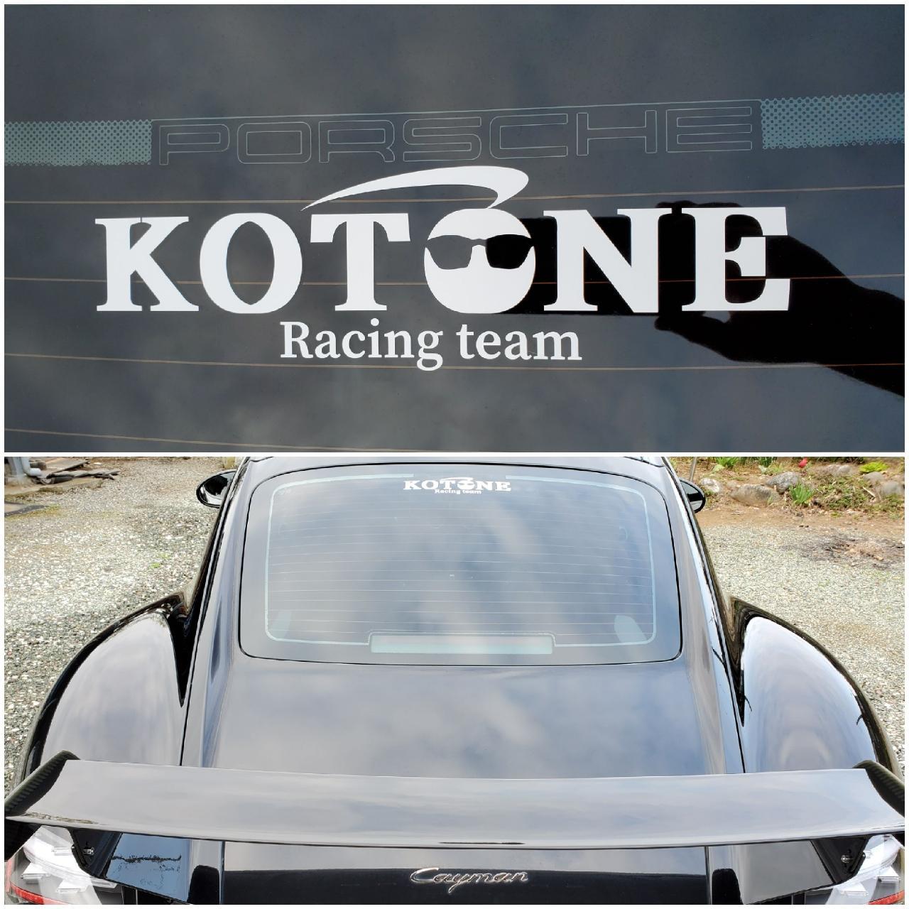KOTONE  Racing team オリジナルステッカー