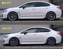 WRX S4RAYS VOLK RACING G025の全体画像