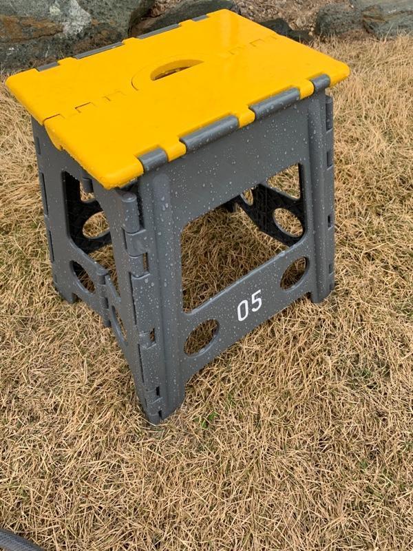 CAINZ HOME 持ち運びしやすい折り畳み踏み台 ハイタイプ グレー