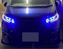フリード+純正加工品 4連プロジェクター/Blue COB LEDの全体画像