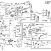 トヨタ(純正) 4ランナー 4RUNNER INSTRUMENT CLUSTER FINISH PANEL 55303-35060 55476-35020 55474-35080