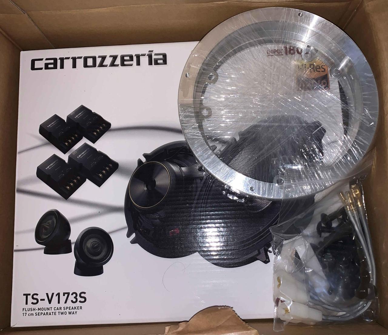 PIONEER / carrozzeria TS-V173S + ツイーター埋め込みAピラー