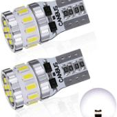 ゴシミ T10 LED ホワイト 爆光 2個 キャンセラー内蔵 LED T10 車検対応 3014LEDチップ18連 12V