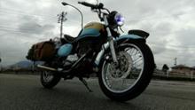 エストレヤCamelight 青色光付き CCFLバイク用LEDヘッドライトH4の全体画像