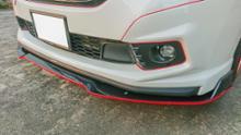 フリード+ハイブリッドメーカー・ブランド不明 汎用 カーボン柄 フロントリップスポイラーの単体画像