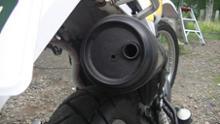 セロー225W自作 4㎜の穴の単体画像