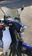 C125キジマ ヘッドライトバイザーの単体画像