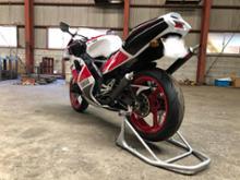 TZR250RSOXレーシング チャンバーの全体画像
