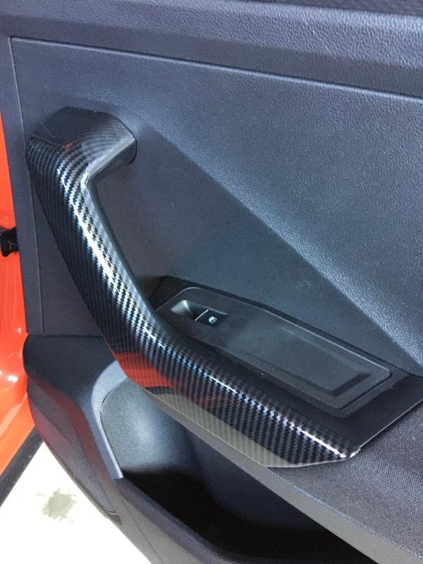 Ali Abs車内側ドアハンドル装飾トリム4個車スタイリングフォルクスワーゲンt-ロック