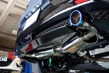 MAZDA3 ファストバックハイブリッドOdula / OVER DRIVE RS-spec マフラーの全体画像