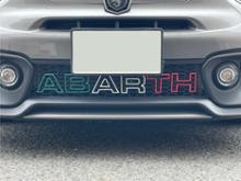 アバルト・595C (カブリオレ)その他 Abarth 595 Styling- Outline Letters - Diffuser Badge Multiple Coloursの単体画像