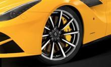 """F12ベルリネッタフェラーリ(純正) """"GENUINE"""" 20 インチ鍛造ホイール, マットブラ ックツートンミルフィニッシュの単体画像"""